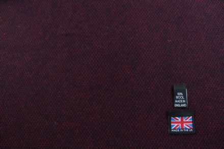 100% Pure New Wool Hopsack Weave Tweed Fabric CZ10